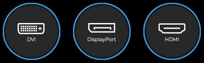 DVI, HDMI and DisplayPort